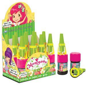Bolhas de Sabão Infantil com Sirene para Festas Moranguinho 60ml 01 unid.
