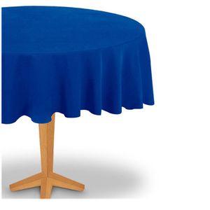 Toalha TNT Redonda de Mesa Lisa para Festas Azul Royal 1.30m 0Unidade.