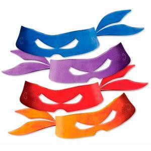 Máscara Tartarugas Ninjas - 8 unidades