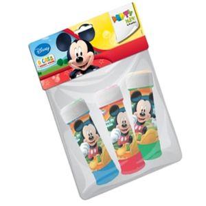 Bolha de Sabão Infantil para Festas Mickey 60ml Pacote com 3 unid.
