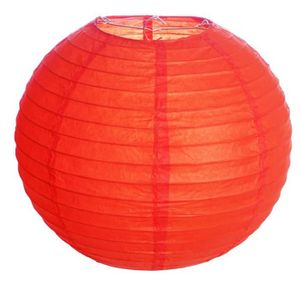 Lanterna de Papel sem Luz para Decoração Vermelha 20cm