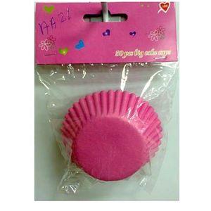 Forma para Cupcake Rosa com 11cm - 50 unidades