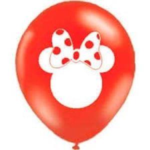 Balão de Látex 10' Disney Minnie Mouse Laser - 15 unidades