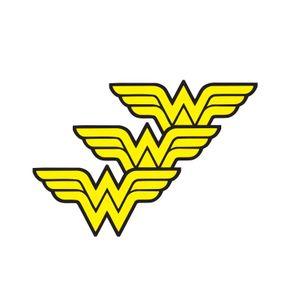 Micro Logo Mulher Maravilha Grande 7.0cm x 3.5cm  3 unidade