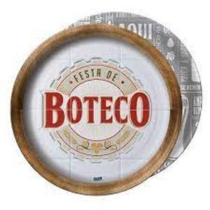 Prato de Papel Rigido Boteco - 08 unidades