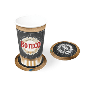 Porta Copos Boteco - 08 unidades
