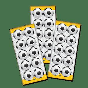 Adesivo Apaixonados por Futebol com 30 Unidades em 3 Cartelas