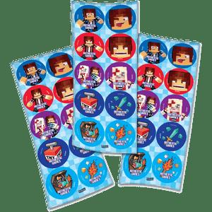Adesivo Authentic Games com 30 Unidades em 3 Cartelas