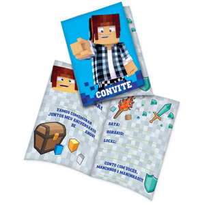 Convite decorativo Authentic Games 8 unidades