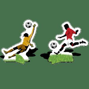 Decoração de Mesa Apaixonados por Futebol 8 unidades