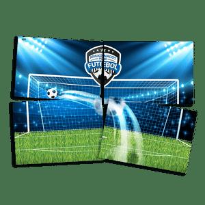 Painel 4 Laminas Apaixonados por Futebol 126cmx88cm