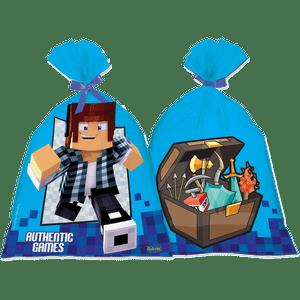 Sacola Plastica Authentic Games 8 unidades