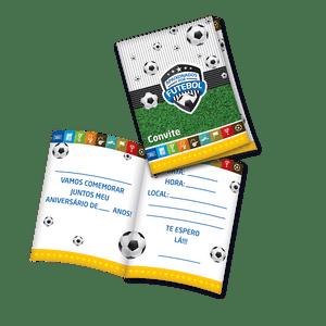 Convite decorativo Apaixonados por Futebol 8 unidades