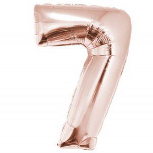 Balão Metalizado com 75cm Rose Gold Número 7