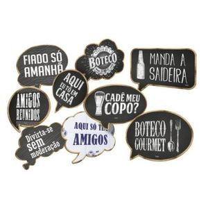 Kit Placas Decorativas Boteco 9 unidades