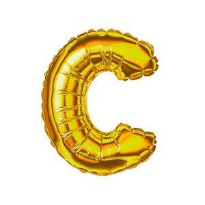 Balão Metalizado 40cm Ouro Letra C