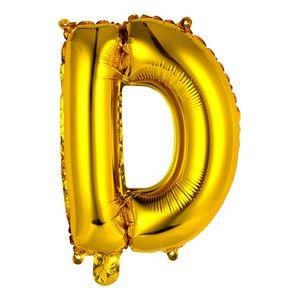 Balão Metalizado 40cm Ouro Letra D