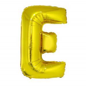 Balão Metalizado 40cm Ouro Letra E