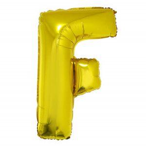 Balão Metalizado 40cm Ouro Letra F