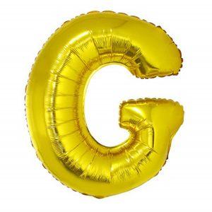 Balão Metalizado 40cm Ouro Letra G