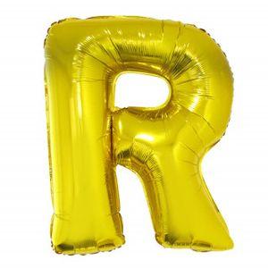 Balão Metalizado 40cm Ouro Letra R