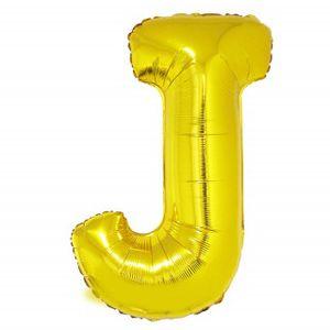 Balão Metalizado 100cm Ouro Letra J