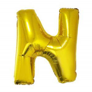 Balão Metalizado 100cm Ouro Letra N
