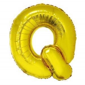 Balão Metalizado 100cm Ouro Letra Q