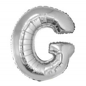 Balão Metalizado 40cm Prata Letra G