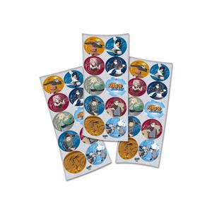 Adesivo Naruto com 30 Unidades em 3 Cartelas