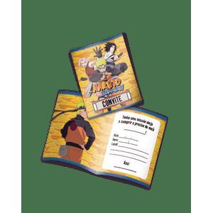 Convite decorativo Naruto 8 unidades