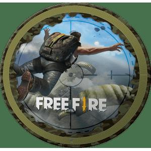 Prato de Papel Rigido Free Fire 8 unidades