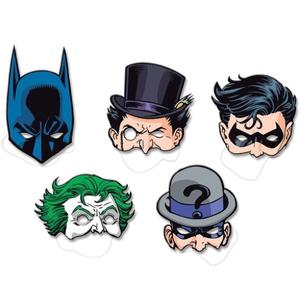 Máscara Cartonada Batman - 08 unidades