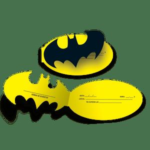 Convite Batman - 08 unidades