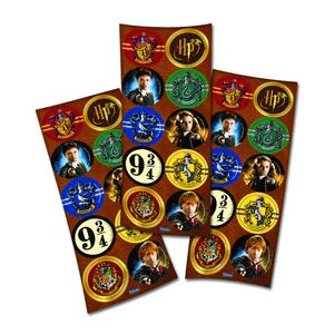 Adesivo Harry Potter com 30 Unidades em 3 Cartelas