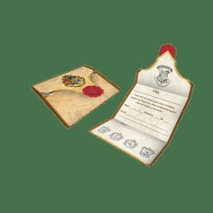 Convite decorativo Harry Potter 8 unidades