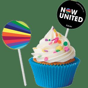 Bandeirinha para Doce Now United 8 unidades