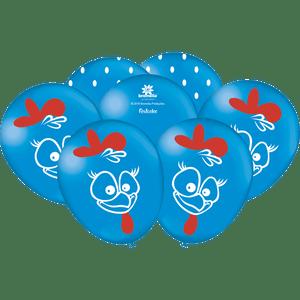 Balão de Latex n°9 Galinha Pintadinha 25 unidades