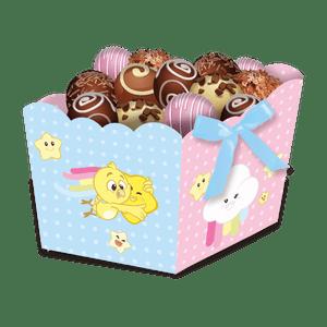 Cachepot Médio Galinha Pintadinha Candy 8 unidades