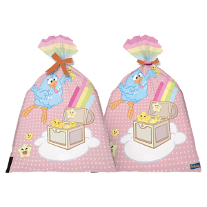 Sacola Plástica Galinha Pintadinha Candy 8 unidades