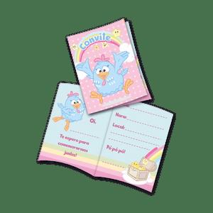 Convite decorativo Galinha Pintadinha Candy 8 unidades