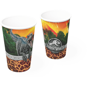 Copo de Papel 200ml Jurassic World 8 unidades