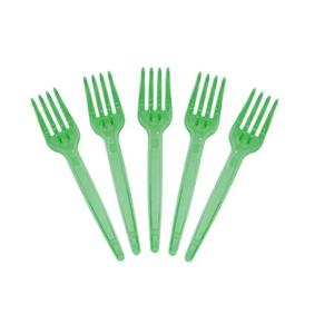 Garfo de Sobremesa com 50 Unidades Verde Escuro Glass