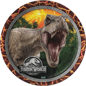 Prato de Papel Rígido Jurassic World 8 unidades