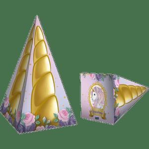 Cone Decorativo Unicórnio 8 unidades
