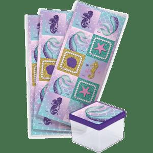 Adesivo Sereia com 30 Unidades em 3 Cartelas