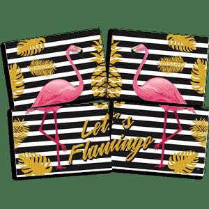 Painel 4 Laminas Flamingo 126cmx88cm