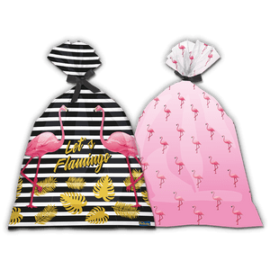 Sacola Plástica Flamingo 8 unidades