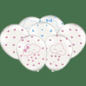 Balão de Latex n°9 Chuva de Amor - 25 unidades