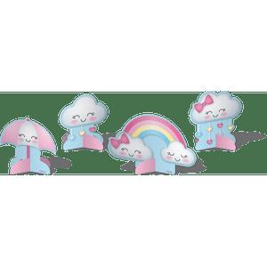Decoração de Mesa Chuva de Amor 8 unidades
